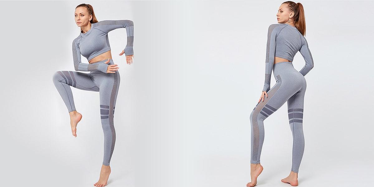 Seamless High Waist Stretchy Yoga Top and Pants Set
