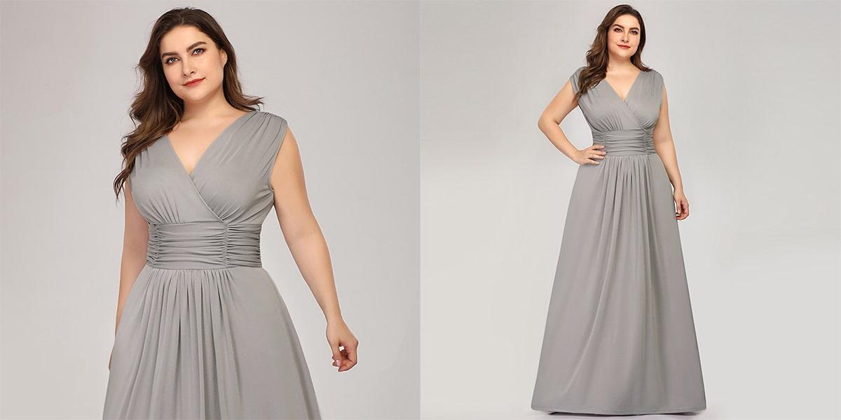 Elegant Double V-neck Dress