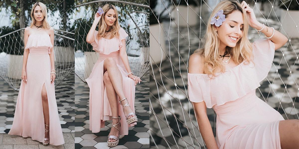 Beautiful Off-Shoulder Bridesmaid Dress
