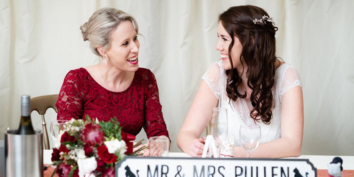 a birde and her bridesmaid
