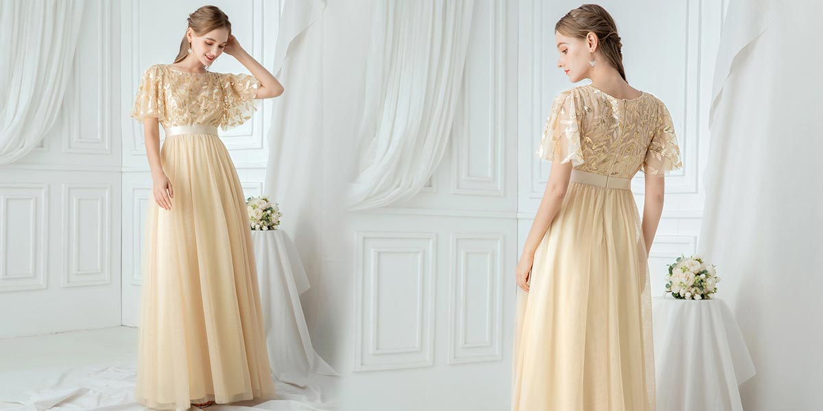 Airy Soft Yellow Wedding Guest Dress