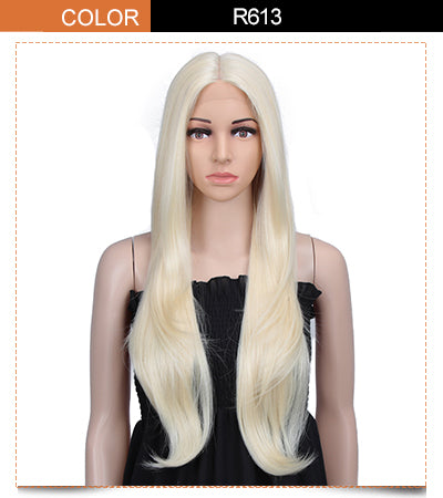 "Cida丨Synthetic 6"" Middle Part Lace Front Wigs丨31 Inch long straight Wig"