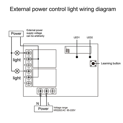 External power control light wiring diagram