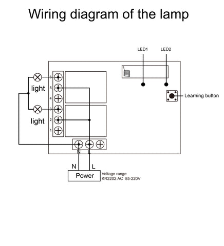 Wiring diagram of the lamp