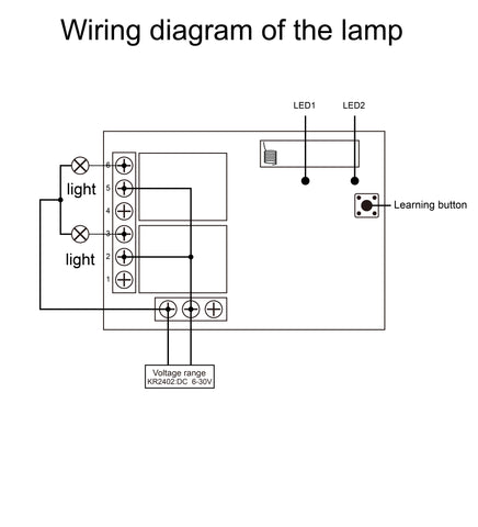 Qiachip KR2402 Wiring diagram of the lamp