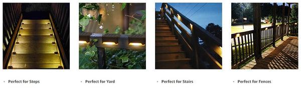 Waterproof Outdoor Solar Step Lights