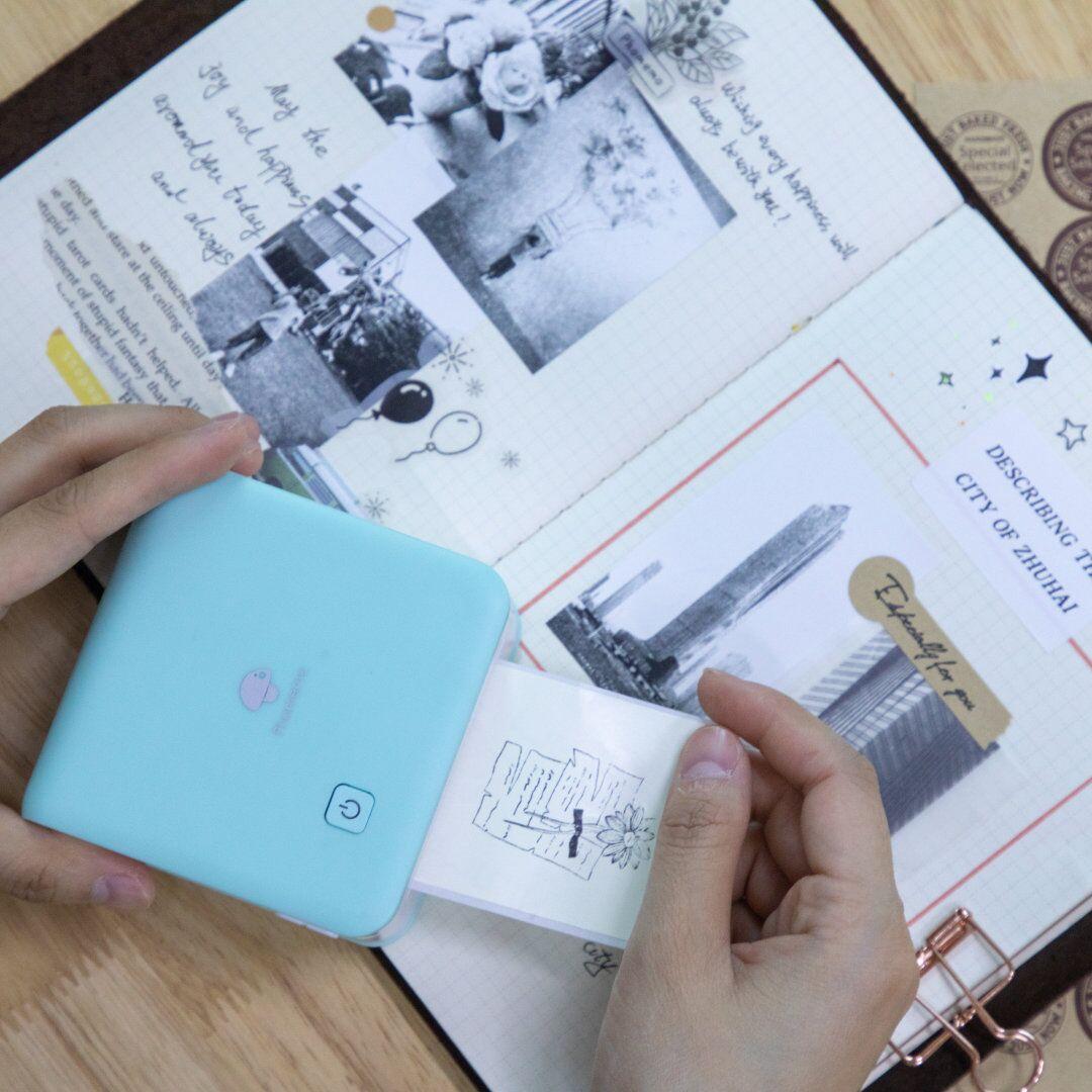Phomemo M02 Pro Portable Mini Pocket Thermal Printer | Cyan
