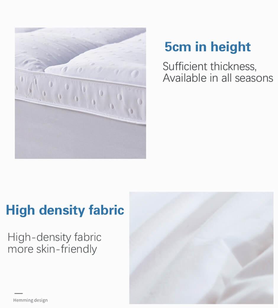 Down Alternative best mattress topper,Anti-Slip,Soft microfibre fabric