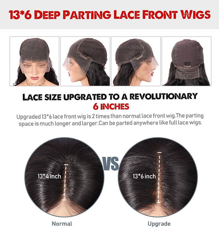 13X6 Fake Scalp Lace Front Wig Brazilian Remy Straight Wig With Bangs Pre plucked Glueless Human Hair Wigs