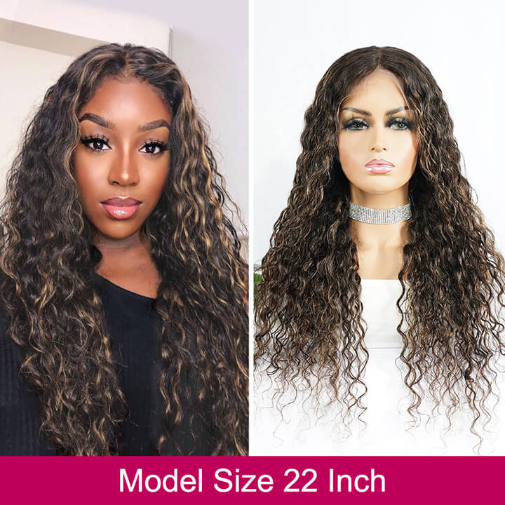 13X6 Highlight Curly Fake Scalp Lace Front Wigs 13x4 Colored Brazilian Human Hair Wigs Pre plucked Glueless Lace Wigs With Baby Hair