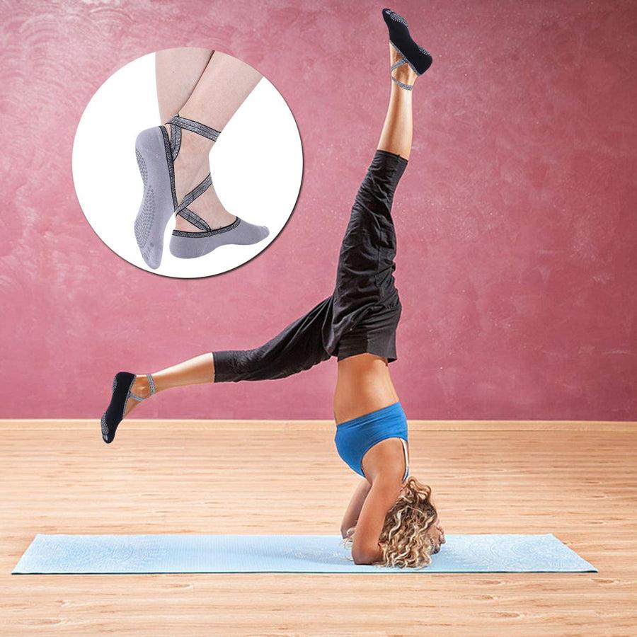 grey yoga socks