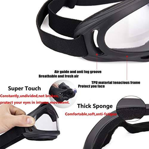 Anti-UV Safety Ski Goggles