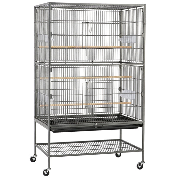 "52"" H Large Rolling Metal Bird Cage"
