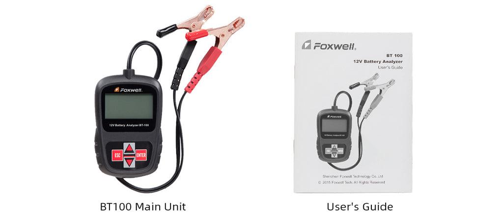 Foxwell BT100 Battery Analyzer Package List