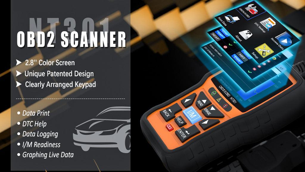 Foxwell NT301 OBD Scanner Data Print