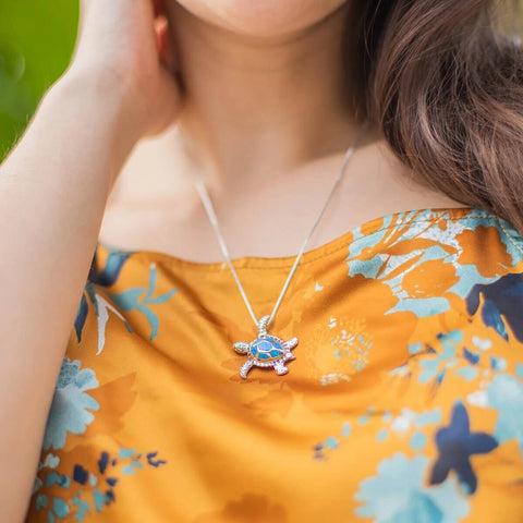 Save Sea Turtles Necklace