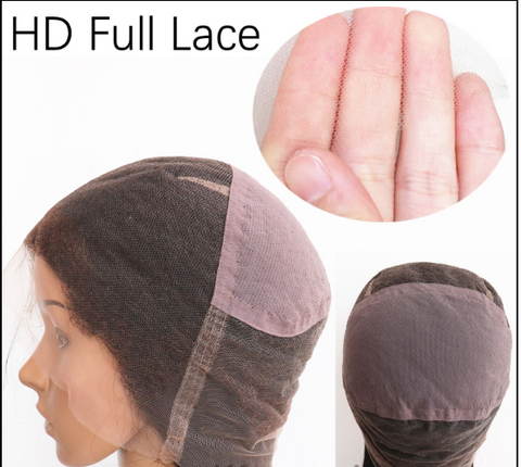 Swiss HD Full lace wig cap human hair wig for black women 2020 hairstyle on heymywig.com