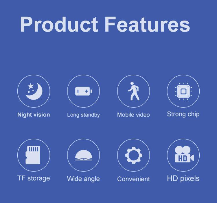 Seguridad de la familia 1080p visión nocturna WiFi minicámara