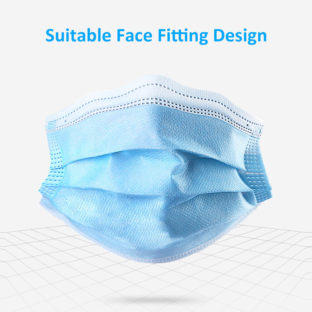 Disposable surgical mask front view