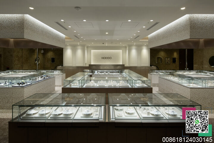 jewelry kiosk display cabinet and HOEIDO image wall