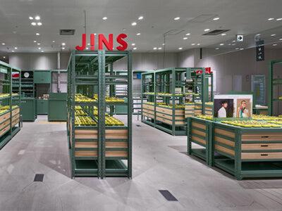 JINS Ginza Eyewear Store with Sponges & Steel