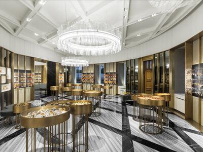 Luxury Round Jewellery Retail Shop