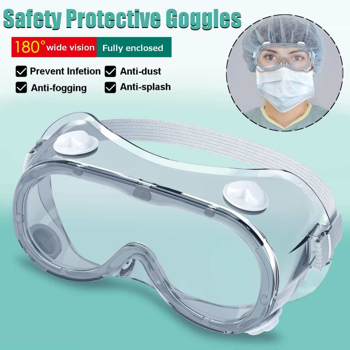 Medical goggles features overview