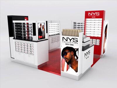 Pop up Eyewear Mall Shop Design