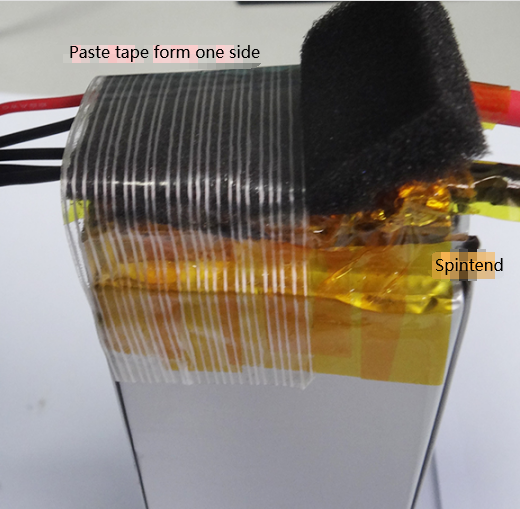 paste the fiber tape in whole battery cell pack