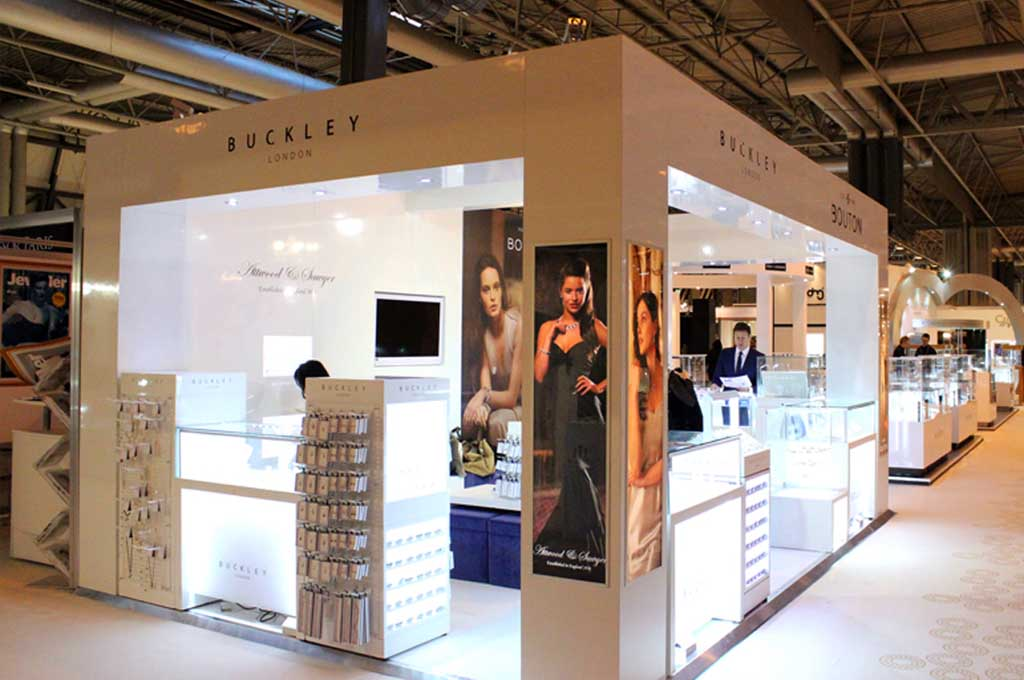 Glass Display Showcase Place in Duty-free Shop for Buckley London