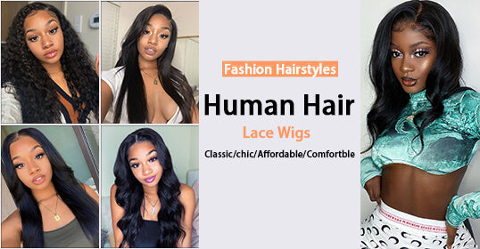 Staright Lace Front Human Hair Wig