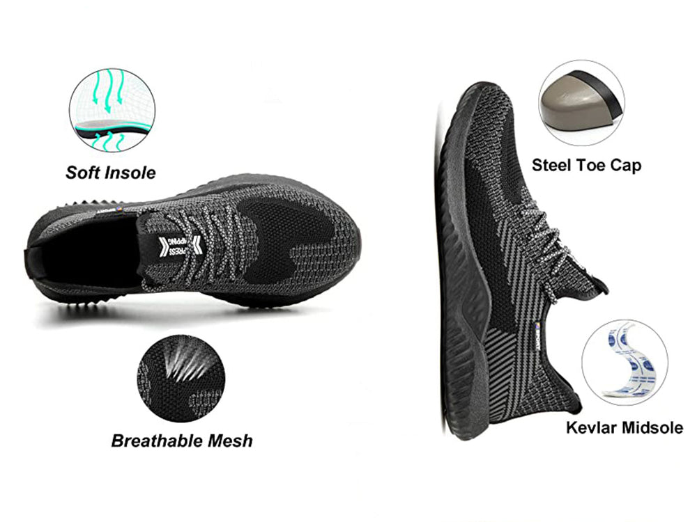 Steel Toe Athletic Shoes Indestructible Shoes 605materials