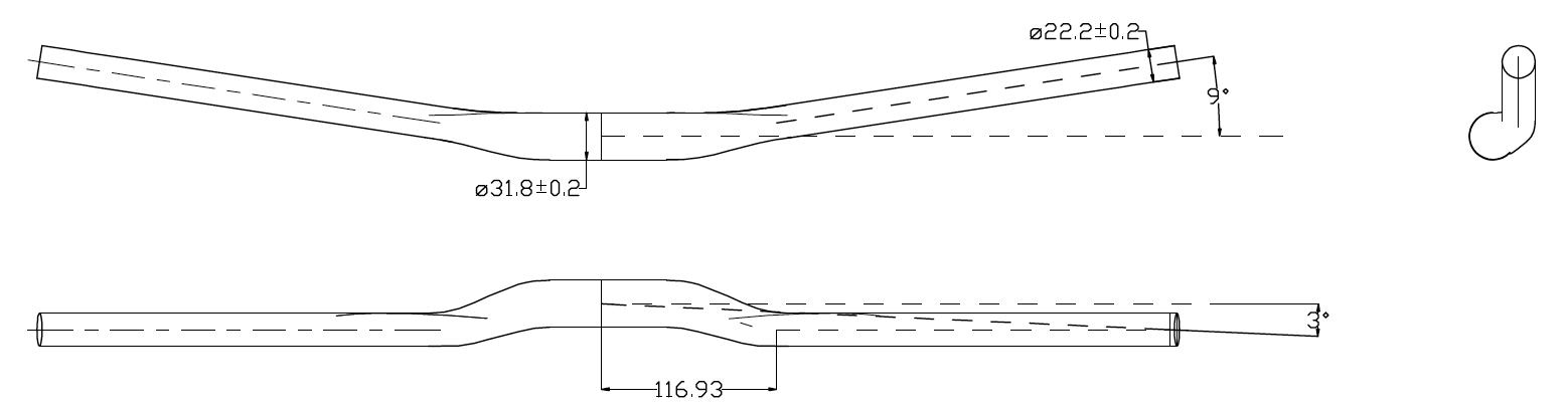 RHB300 Riser Bar Carbon MTB Handlebar