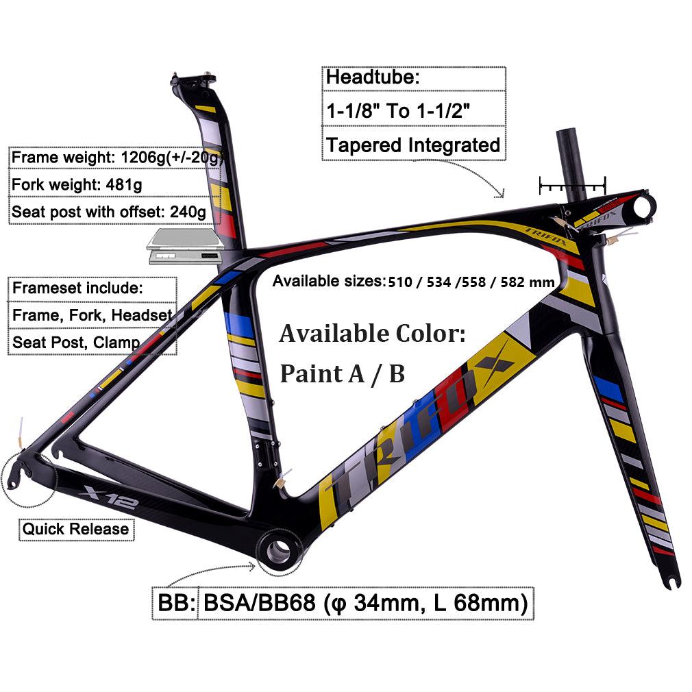 Aero Road Bike Frameset Trifox X12
