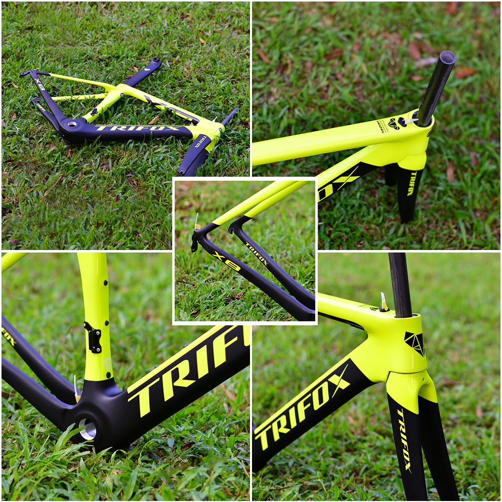 X8 Road Bike Frameset - Yellow Details