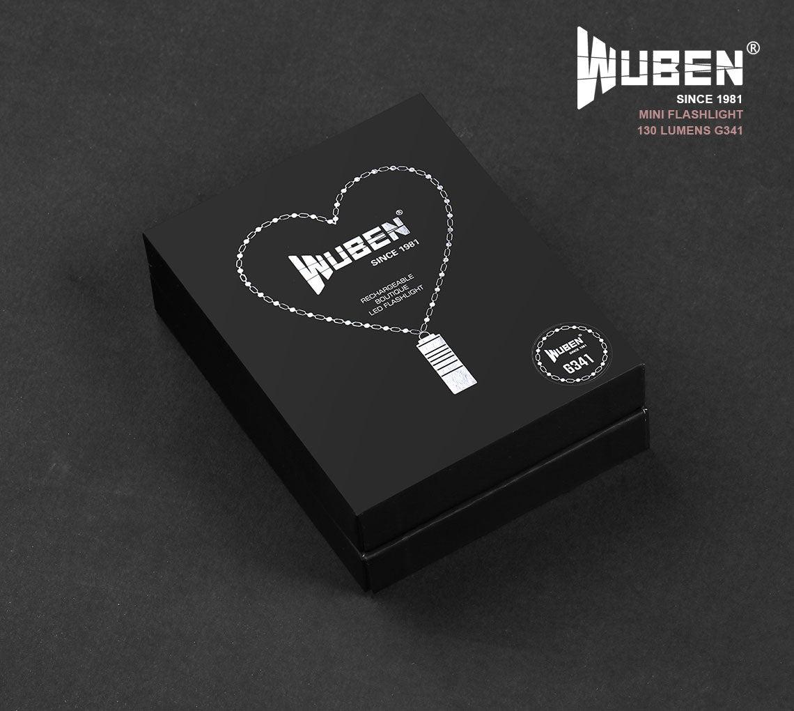 WUBEN Mini Keychain light Necklace Flashlight USB rechargeable 130 Lumens