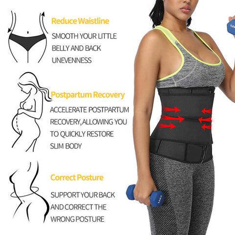 Women Waist Trainer Corset Sauna Sweat Faja Sport Girdle Slimming Shaper