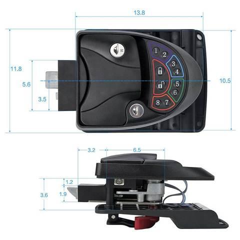 Remote-Control Keyless Entry RV Door Lock-1