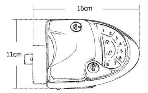 Remote RV Camper Caravan Entry Door Lock-7