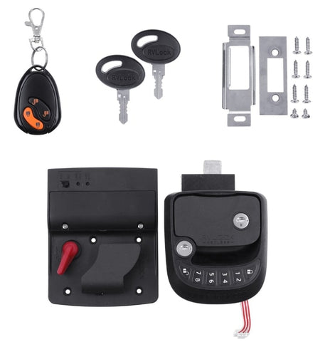 15M Wireless RV Quadruple Security Keyless Entry Door Lock-8