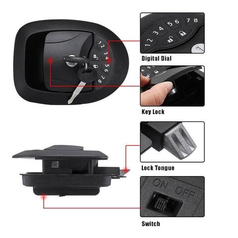 20M Black RV Keyless Entry Wireless Electric Door Lock-4