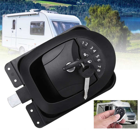 20M Black RV Keyless Entry Wireless Electric Door Lock-6