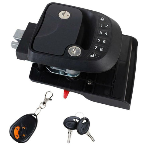 15M Remote-Control Black RV Keyless Entry Door Lock-1