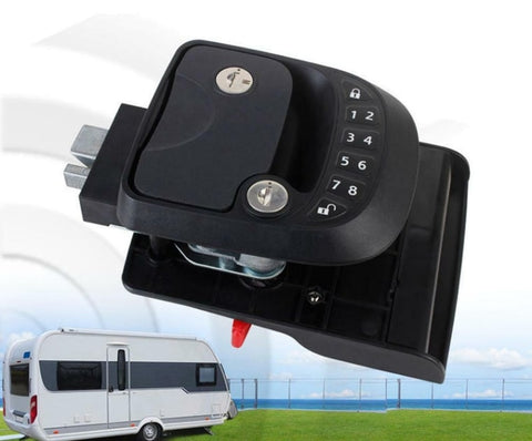 15M Remote-Control Black RV Keyless Entry Door Lock-3