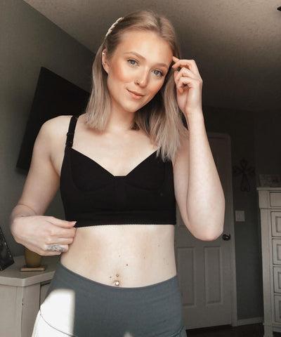 hands-free nursing bra