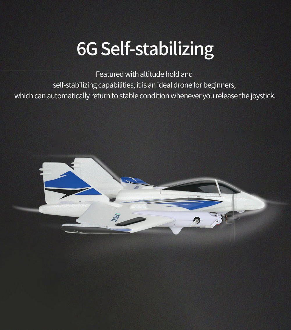 6G Self-stabilizing,Featured with altitude hold and self-stabilizing cap abi ities, it is an ideal drone for beginners,which can automatically return to stable condition whenever you release the joystick.