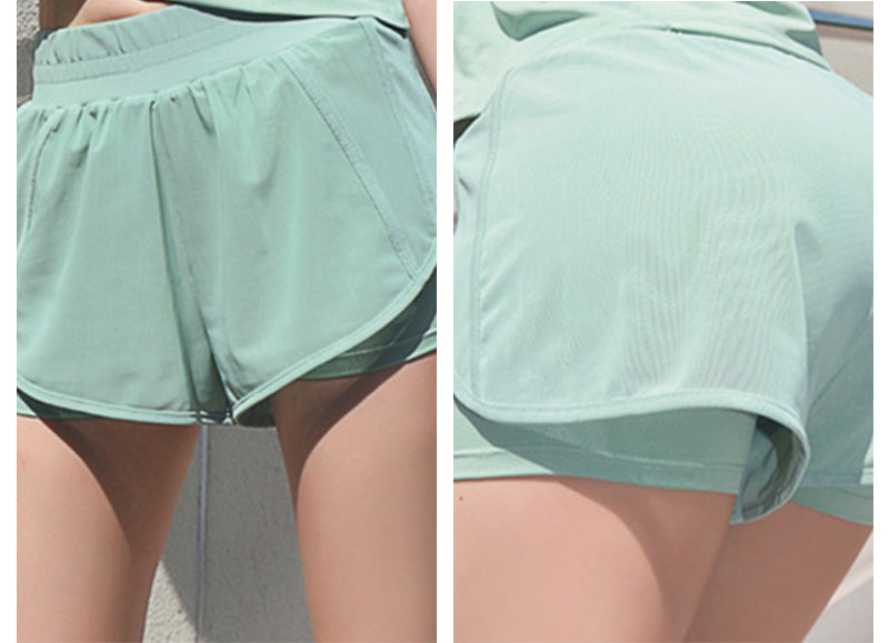 running shorts women 2 in 1