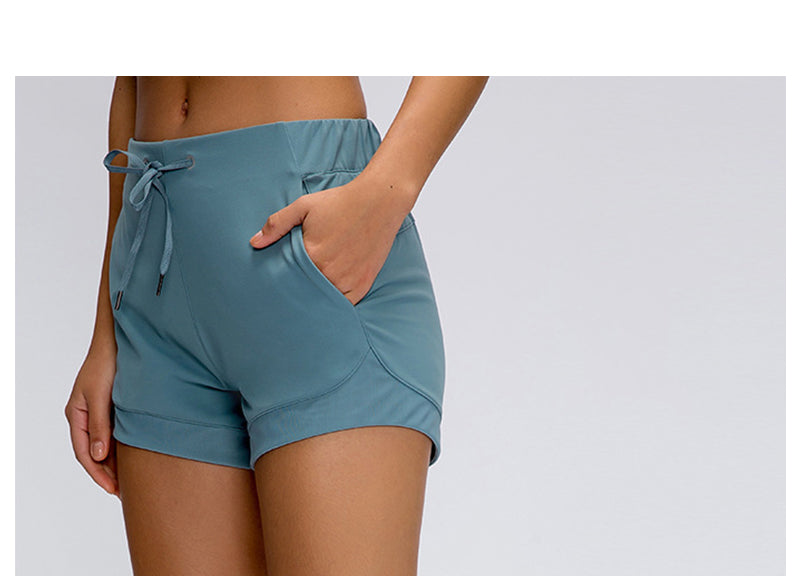 women's exercise shorts with pockets