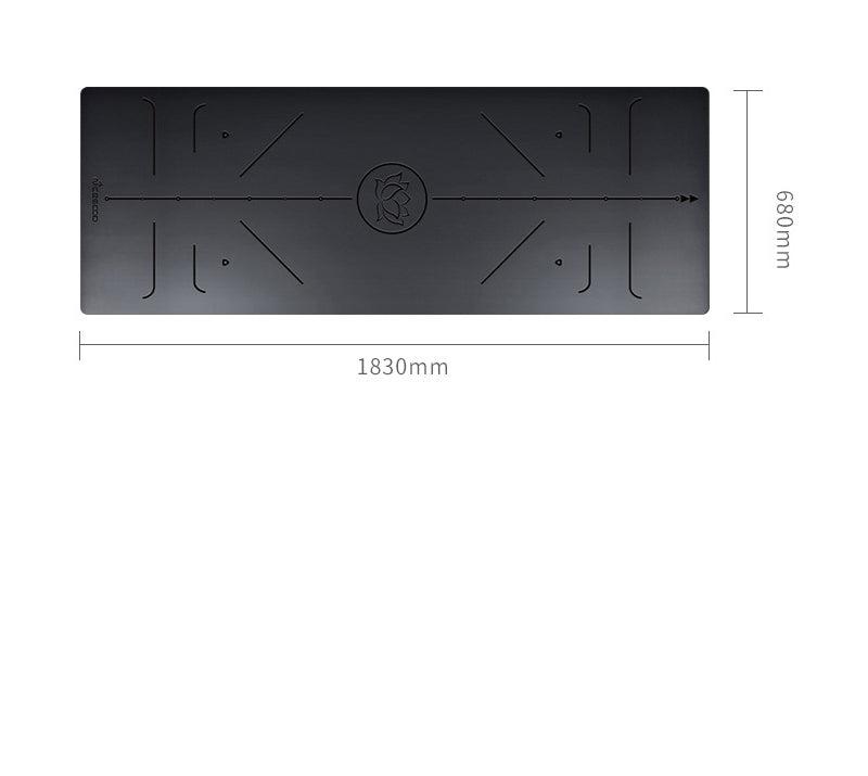 yoga mat size chart