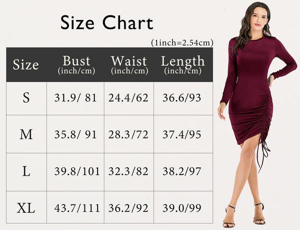 Size Chart Causal Dress Summer Dress Mini Bodycon Dress Sexy Dress | Gardenwed